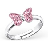 KAYA jewellery Kid's Silver Butterfly Ring
