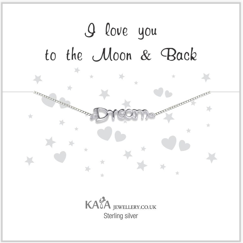 "KAYA jewellery Silver Baby Bracelet ""I Love You To The Moon & Back '"