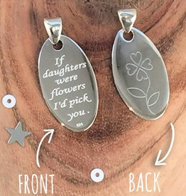 KAYA jewellery Silver Pendant 'If daughters were flowers I'd pick you'
