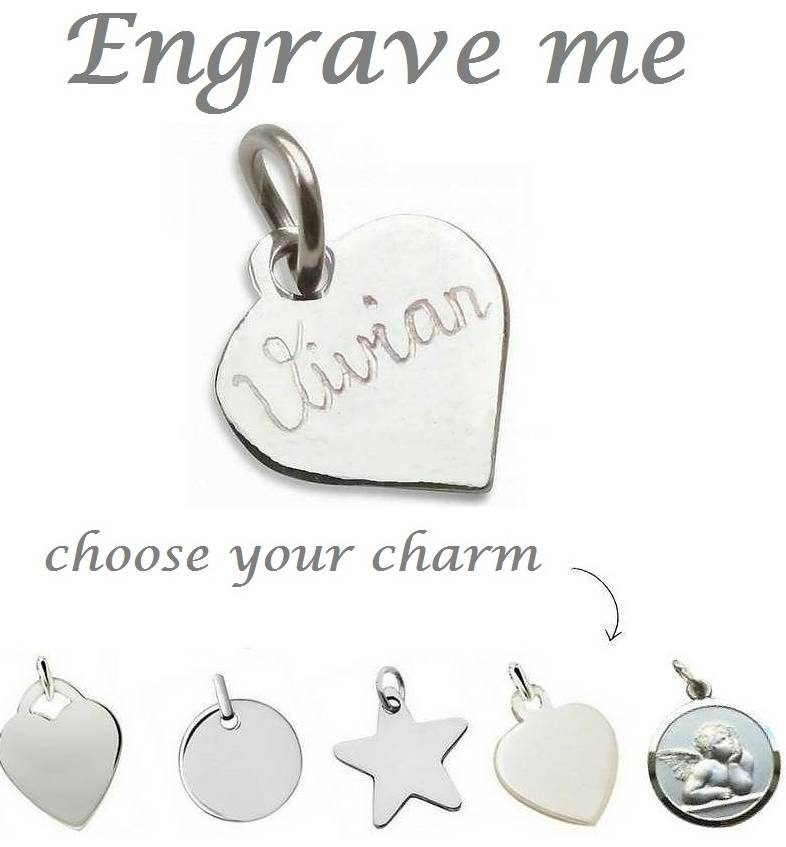 0b98fc992 Silver Engraved Charm - Extra Personal - KAYA jewellery UK