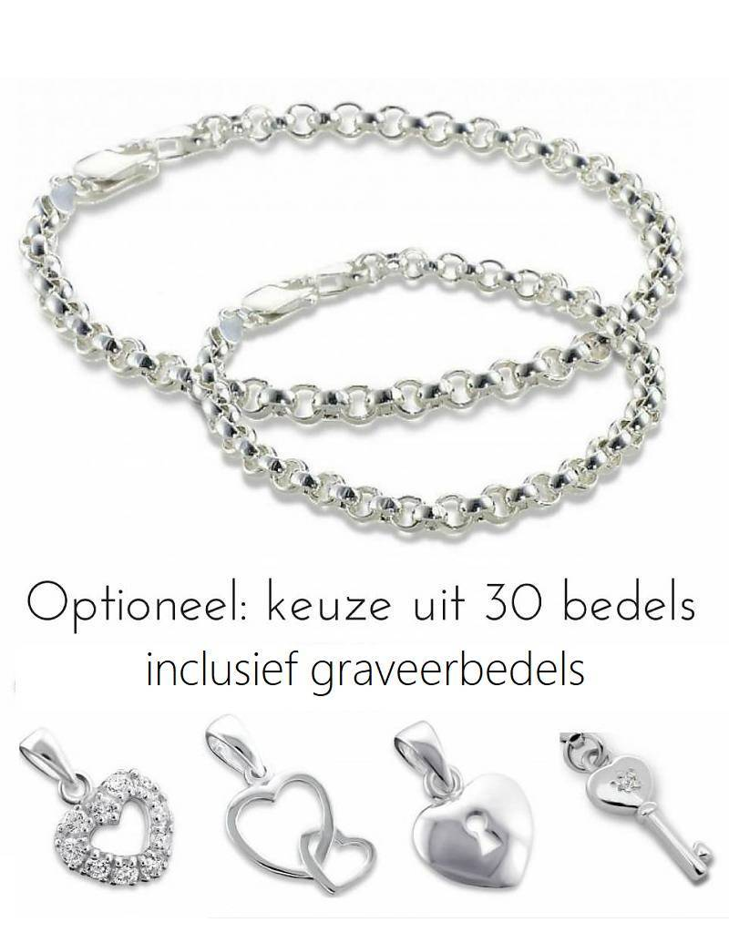 "KAYA jewellery Silver bracelets set with ""Choose your charms"""
