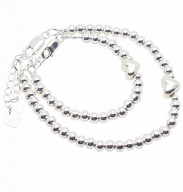KAYA jewellery Silver bracelets set 'Cute Balls' with heart