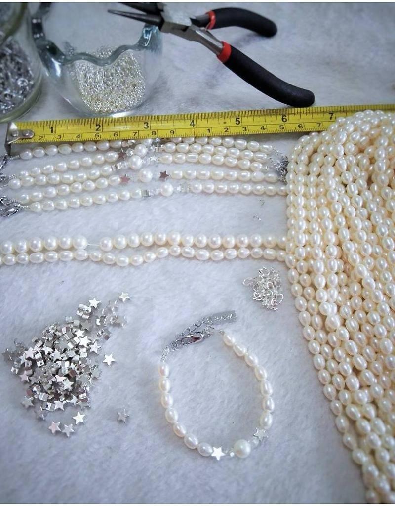 KAYA jewellery 3 generation set 'Mermaid Pearl'