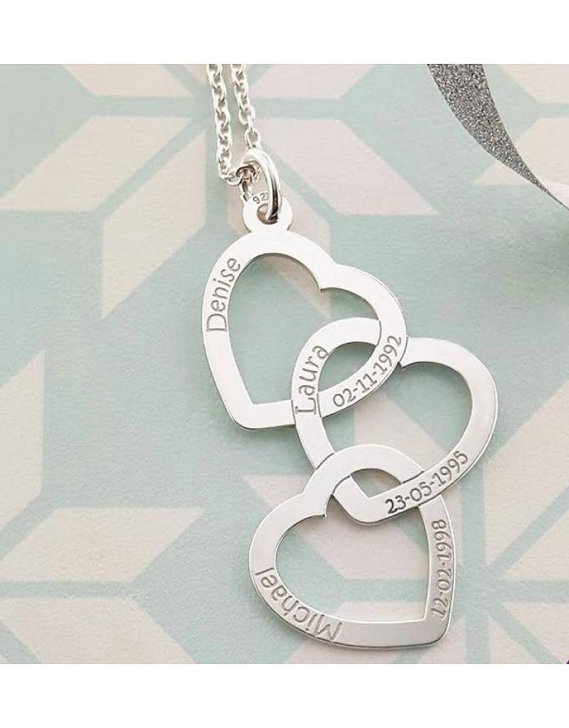 """KAYA jewellery Names4ever Silver necklace """"Three or Six Kids'"""