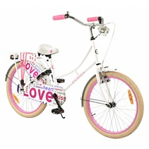 2Cycle Omafiets - 22 inch - Wit-Roze