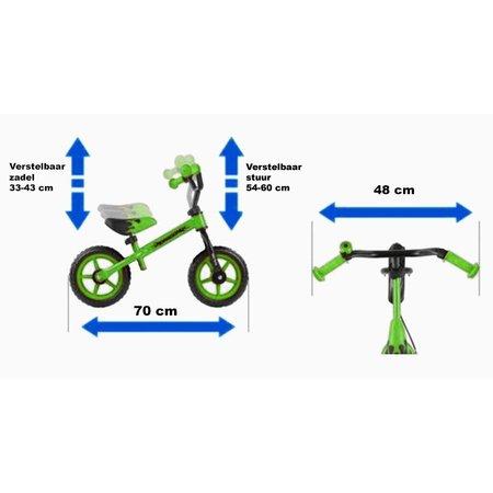 2Cycle 2Cycle Loopfiets - Zwart-Blauw