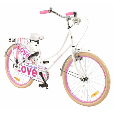 2Cycle 2Cycle Omafiets - 24 inch - Wit-Roze
