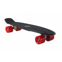Skateboard Zwart-Rood 22.5 inch