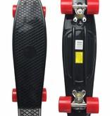 2Cycle Skateboard Zwart-Rood 22.5 inch (3103)