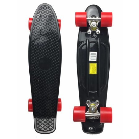 2Cycle 2Cycle - Skateboard - 22.5 inch - Zwart-Rood