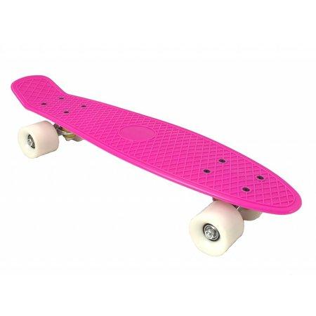 2Cycle Skateboard Roze-Wit 22.5 inch (3102)