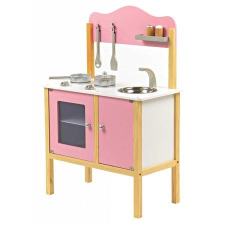 P&M P&M  Basic Kinderkeuken - Hout - Roze