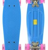 2Cycle 2Cycle Skateboard - LED Wielen - 22.5 inch - Blauw-Roze