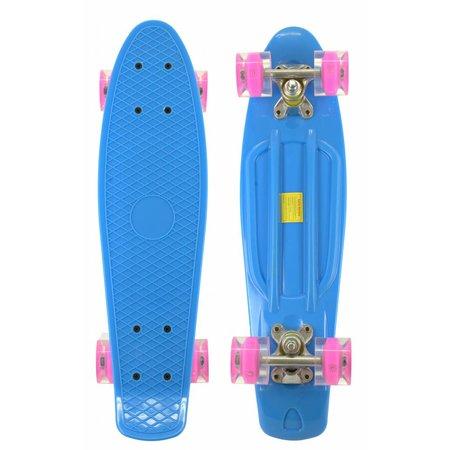 2Cycle 2Cycle Skateboard - LED-Räder - 22,5 Zoll - Blau-Rosa
