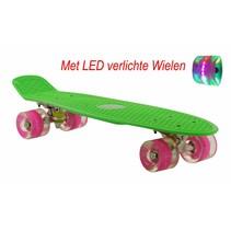 2Cycle Skateboard - LED Wielen - 22.5 inch - Groen-Roze
