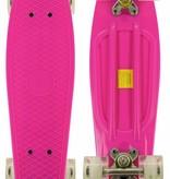 2Cycle Skateboard Roze-Wit met LED wielen 22.5 inch (3108)