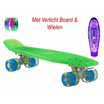 2Cycle Skateboard - LED Board - LED Wielen - 22.5 inch - Groen