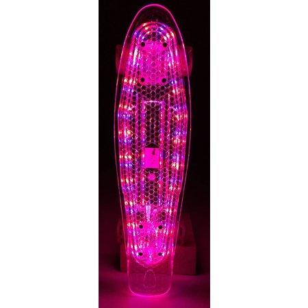 2Cycle Skateboard Transparant met LED Board en LED wielen (3115)