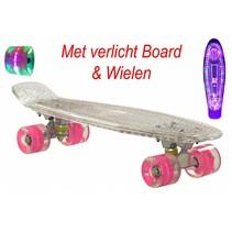 2Cycle Skateboard - LED Board - LED Wielen - 22.5 inch - Transparant