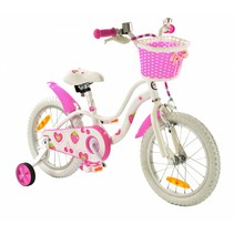 2Cycle Strawberry Kinderfiets - 16 inch - Wit