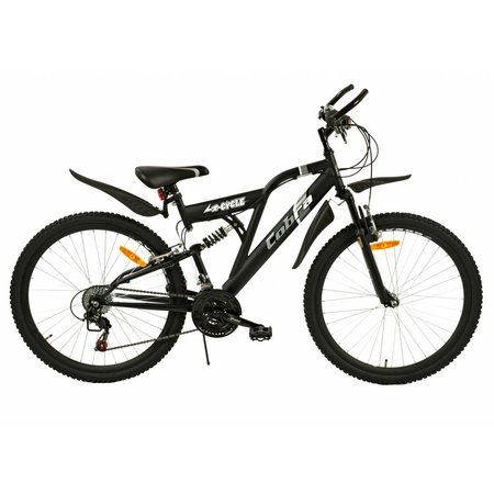 2Cycle Mountainbike 26 inch Cobra Mat-Zwart 18-speed (2614)