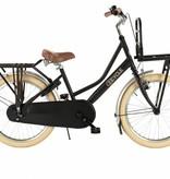2Cycle Transportfiets 20 inch mat-zwart met Voordrager (2085)