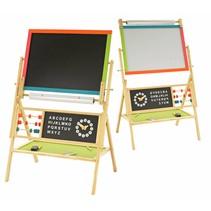 Krijtbord en magnetisch Whiteboard