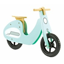 2Cycle Scooter Loopfiets - Hout - Turquoise