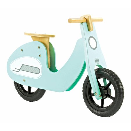 2Cycle 2Cycle Scooter Loopfiets - Hout - Turquoise