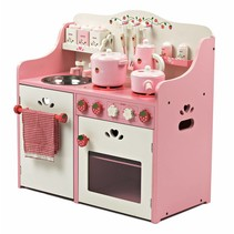 Houten Speelkeuken Roze Strawberry