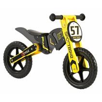 2Cycle Motor  Loopfiets - Hout - Geel