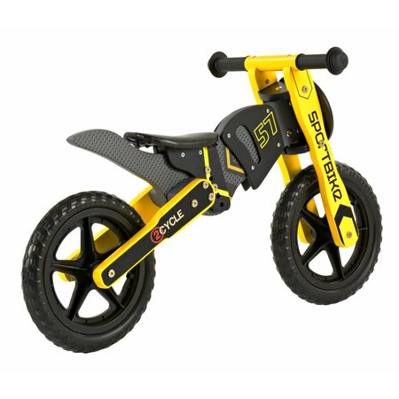 2Cycle 2Cycle Motor Laufrad - Holz - Gelb