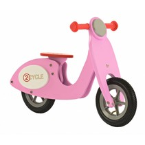 2Cycle Scooter Loopfiets - Hout - Roze