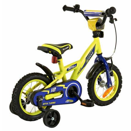 2Cycle Jongensfiets 12 inch BMX blauw-geel (1234)