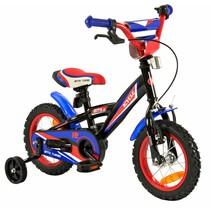 Kinderfiets 12 inch BMX blauw-rood