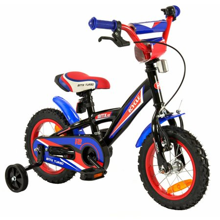 2Cycle 2Cycle BMX Kinderfiets - 12 inch - Blauw-Rood