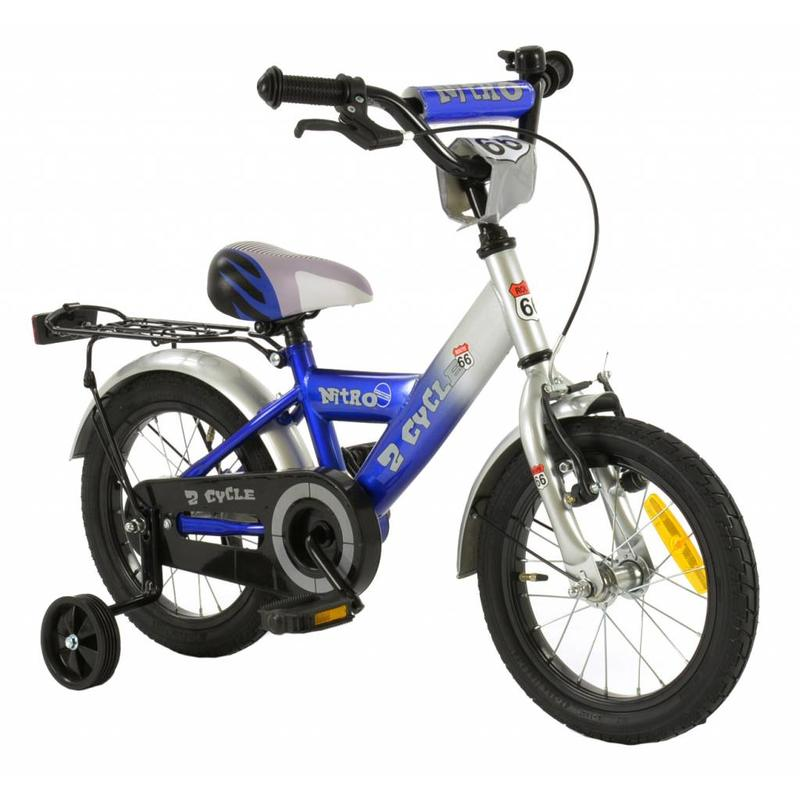 2Cycle Jongensfiets 14 inch Nitro blauw (1439)