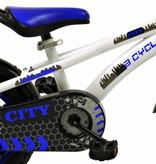 2Cycle Jongensfiets 12 inch City blauw-wit (1241)