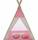 P&M Tipi Speeltent Roze met kussens (1113)