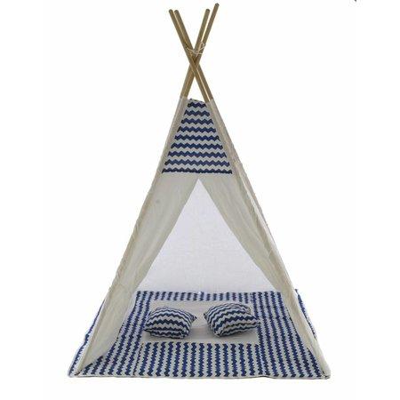 P&M Tipi Speeltent Blauw met kussens (1115)