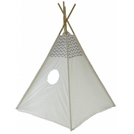 P&M P & M Tipi Spielzelt - Grau-Weiß