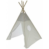 P & M Tipi Spielzelt - Grau-Weiß