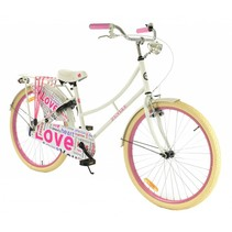 2Cycle Omafiets - 26 inch - Wit-Roze