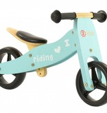 2Cycle 2Cycle 2 in 1 Loopfiets/Driewieler - Hout - Turquoise