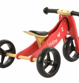 2Cycle 2Cycle 2 in 1 Loopfiets/Driewieler - Hout - Rood