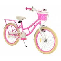 Kinderfiets 20 inch Zeemeermin  Wit-roze