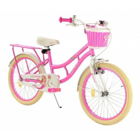2Cycle Meisjesfiets 20 inch Zeemeermin wit-roze (2074)
