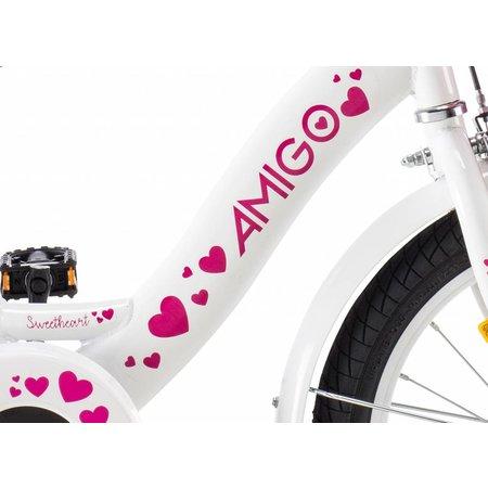 Amigo Meisjesfiets 16 inch Wit