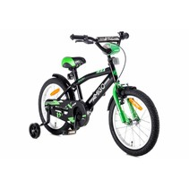 Kinderfiets 16 inch Groen-Zwart