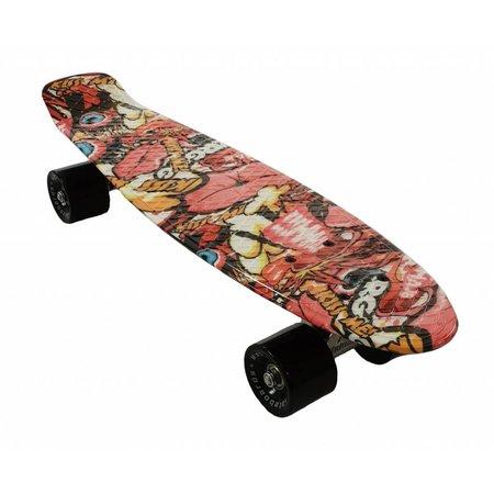 2Cycle Skateboard Graffiti-2 22.5 inch (3117)